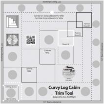 Creative Grids Curvy Log Cabin Trim Tool Ruler - 8 inch finished block Sewing Buddies Australia