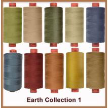 Earthy Toned 10 Colour Set 1 Rasant Thread 1000M Sewing Buddies Australia