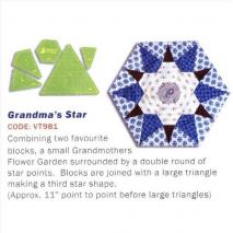 Grandma's Star Patchwork Template Matilda's Own 2 Sewing Buddies Australia