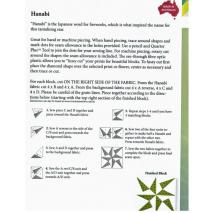 Hanabi (Fireworks) Patchwork Template Set Matilda's Own - Sewing Buddies Australia