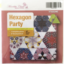 Hexagon Party Patchwork Template Meredithe Clarke Collection Sewing Buddies Australia