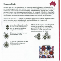 Hexagon Party Patchwork Template Meredithe Clarke Collection 3 Sewing Buddies Australia