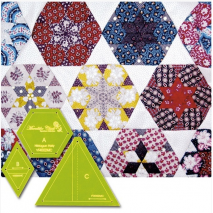 Hexagon Party Patchwork Template Meredithe Clarke Collection 5 Sewing Buddies Australia