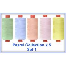 Pastels 5 Colour Set 1 Rasant Thread 1000M Sewing Buddies Australia