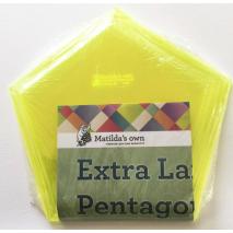 Pentagon Extra Large Patchwork Template Set Matilda's Own Sewing Buddies Australia