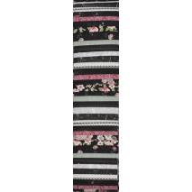 Floral Black and Dusty Pink Rainbow aka Jelly Roll Sewing Buddies Australia