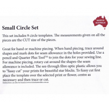 Circle Set Small Patchwork Template Matilda's Own 3 Sewing Buddies Australia