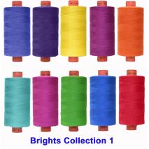 Brights 10 Colour Set 1 Rasant Thread 1000M Sewing Buddies Australia