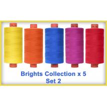 Brights x 5 Colour Set 2 Rasant Thread 1000M Sewing Buddies Australia
