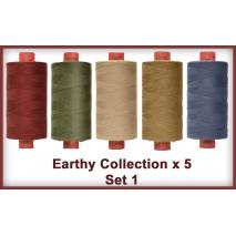 Earthy Toned 5 Colour Set 1 Rasant Thread 1000M Sewing Buddies Australia