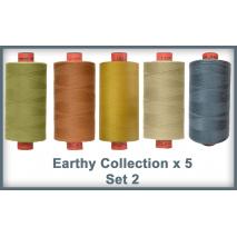Earthy Toned 5 Colour Set 2 Rasant Thread 1000M Sewing Buddies Australia