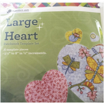 Heart Set Large Patchwork Template - Matilda's Own - Sewing Buddies Australia