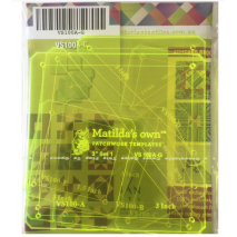 Basics Template Set 1 (A - G) Matilda's Own 5 Sewing Buddies Australia
