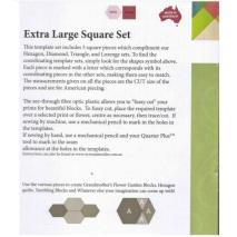 Square Set Extra Large Patchwork Templates Matilda's Own 2 Sewing Buddies Australia