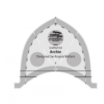 Archie Creative Grids Non-Slip Free Motion Quilting Tool / Ruler SEE VIDEO Sewing Buddies Australia
