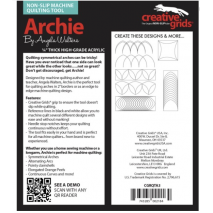 Archie Creative Grids Non-Slip Free Motion Quilting Tool / Ruler SEE VIDEO 5 Sewing Buddies Australia