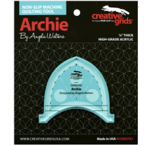 Archie Creative Grids Non-Slip Free Motion Quilting Tool / Ruler SEE VIDEO 6 Sewing Buddies Australia