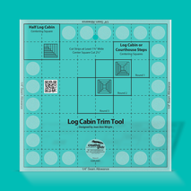 Creative Grids Log Cabin Trim Tool Ruler - 8in finished block SEE VIDEO's 5 Sewing Buddies Australia