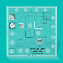 Creative Grids Curvy Log Cabin Trim Tool Ruler - 8 inch finished block 4 Sewing Buddies Australia