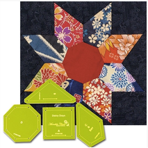 Daisy Days Patchwork Template - Meredithe Clarke Signature Collection 5 Sewing Buddies Australia