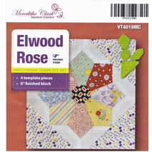 Elwood Rose Patchwork Template - Meredithe Clarke Signature Collection Sewing Buddies Australia