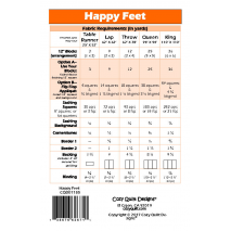 Happy Feet Pattern by Cozy Quilt Designs 2 Sewing Buddies Australia