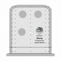 Shorty Creative Grids Non-Slip Free Motion Quilting Tool / Ruler SEE VIDEO Sewing Buddies Australia