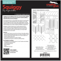 Squiggy Creative Grids Non-Slip Free Motion Quilting Tool / Ruler SEE VIDEO 3 Sewing Buddies Australia