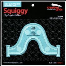 Squiggy Creative Grids Non-Slip Free Motion Quilting Tool / Ruler SEE VIDEO 2 Sewing Buddies Australia