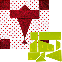 Airplanes Patchwork Template - Meredithe Clarke Signature Collection 2 Sewing Buddies Australia