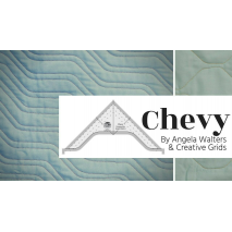 Chevy Creative Grids Non-Slip Free Motion Quilting Tool / Ruler SEE VIDEO 7 Sewing Buddies Australia