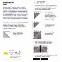 Cross Roads Patchwork Template Meredithe Clark Signature Collection 2 Sewing Buddies Australia