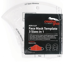 Creative Grids Facemask Template - See Video 2 Sewing Buddies Australia