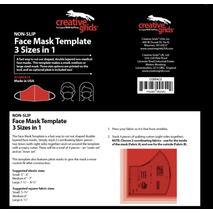 Creative Grids Facemask Template - See Video 6 Sewing Buddies Australia