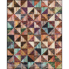 Split Log Cabin Quilt Pattern