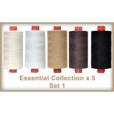 Essentials 5 Colour Set 1 Rasant Thread 1000M Sewing Buddies Australia