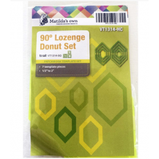 Lozenge (Elongated Hexagon) Donut Patchwork Template Set Sewing Buddies Australia