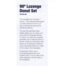 Lozenge (Elongated Hexagon) Donut Patchwork Template Set  - Sewing Buddies Australia