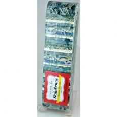 Mottled Greys and Blues Rainbow aka Jelly Roll Sewing Buddies Australia