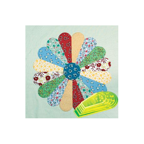 "Curved Dresden Plate 4"" - 9"" Patchwork Template ~ Matilda's Own"
