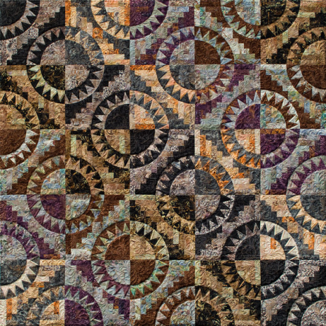 Cabin Fever Quilt Pattern Colour 1