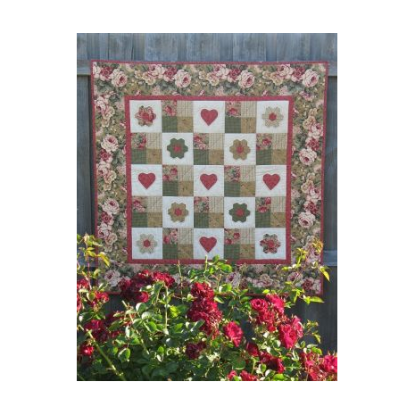Love Is A Rose Quilt - by Zoe Clifton