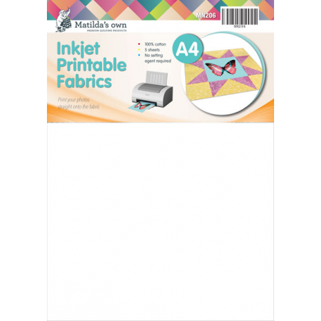 Printable Fabric (Inkjet) A4 x 5 Sheets