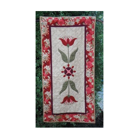 Red Lily Table Runner  by Zoe Clifton