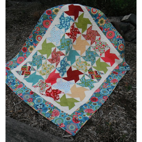 Wind Mill Quilt Pattern Incl. Templates by Zoe Clifton