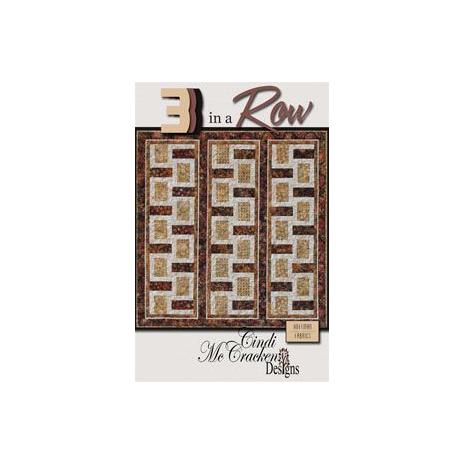 3 In A Row - Pattern by Cindi McCracken Designs