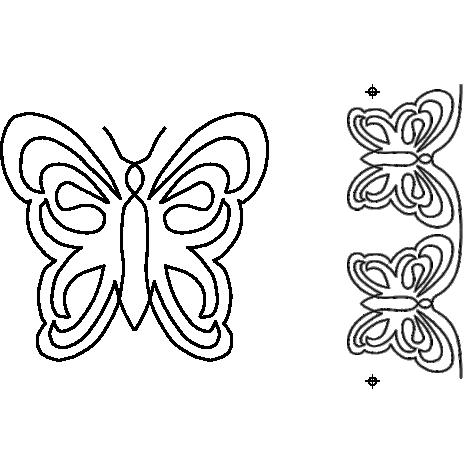 Butterfly Motif & Border #40009 by Full Line Stencils