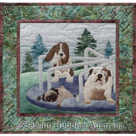 Doggone Dizzy - Pattern 5 Dog Park Complete Pattern Set by McKenna Ryan