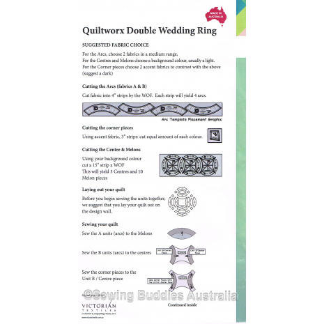 Judy Niemeyer Wedding Ring Patchwork Template