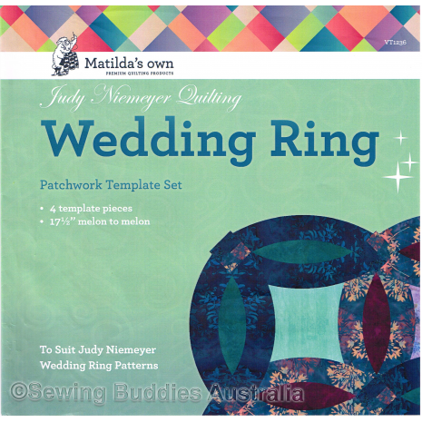 Judy Niemeyer Wedding Ring Patchwork Template ~ Matilda's Own